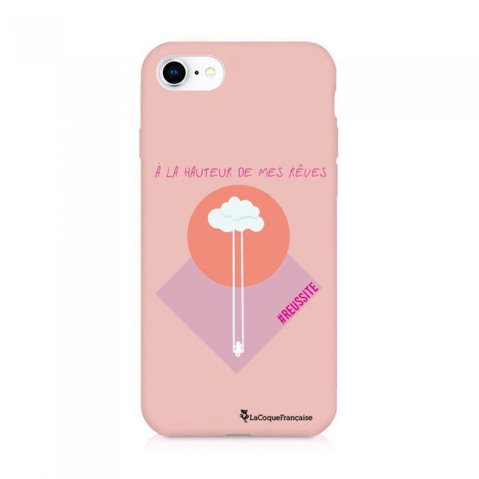 Coque iPhone 7/8/ iPhone SE 2020 Silicone Liquide Douce rose pâle A La Hauteur De Mes Rêves La Coque Francaise. - Coquediscount