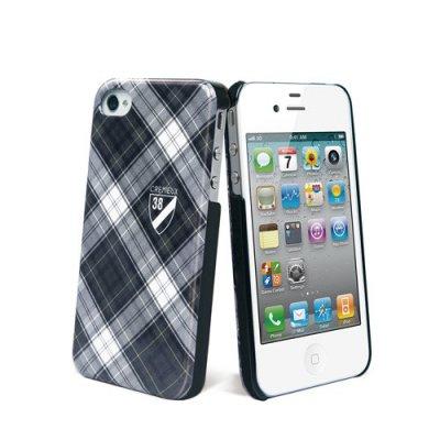 Coque Cremieux ecossais noire pour iPhone 4/4S
