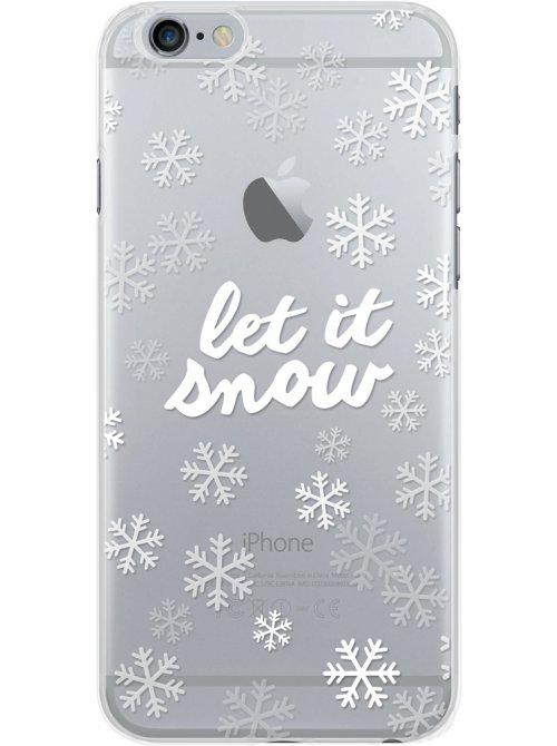 Coque semi-rigide transparente motifs flocon de neige pour iPhone 6/6S