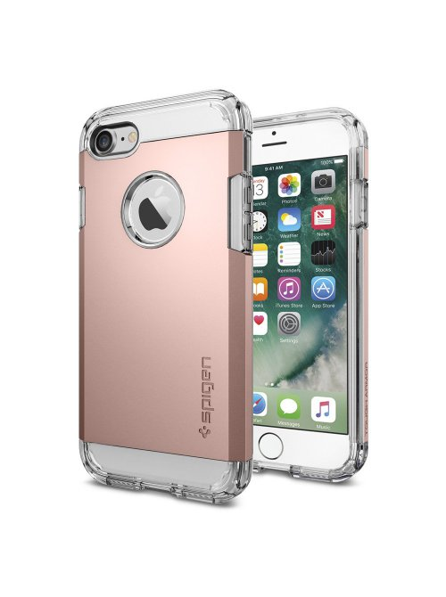 spigen coque tough armor for iphone 7 rose gold colored