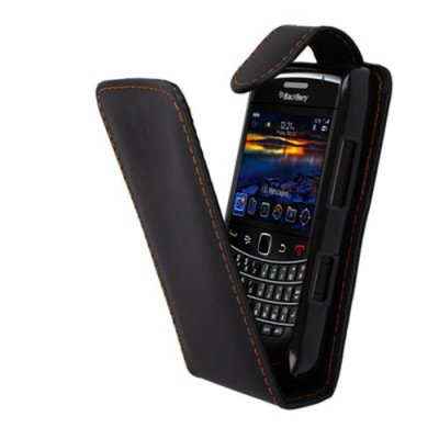 Etui Portefeuille Simili Noir BlackBerry 9790 Bellagio