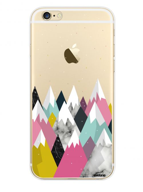 Coque rigide transparent Montagnes pour iPhone 6 / 6S