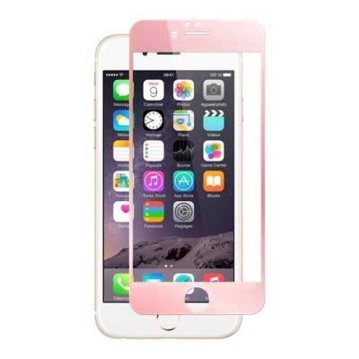 Vitre protectrice avant en verre trempé Rose Gold pour iPhone 7 Plus