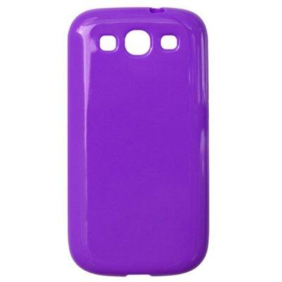 Coque Silicone violette Samsung Galaxy SIII