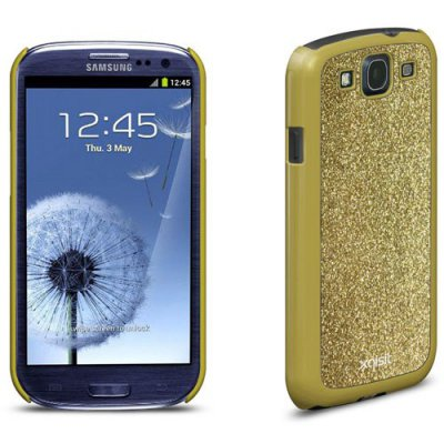 Coque Xqisit iPlate Glamor or pour Samsung Galaxy S3