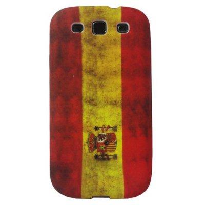 Coque silicone Samsung Galaxy SIII drapeau Espagne